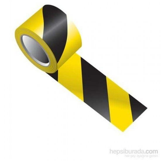 İkaz Emniyet Şeridi 500 mt Sarı Siyah