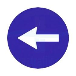 Sola Yön İşareti Trafik Levhası | PT-108-B