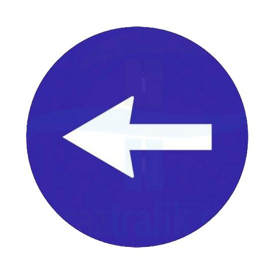 Sola Yön İşareti Trafik Levhası