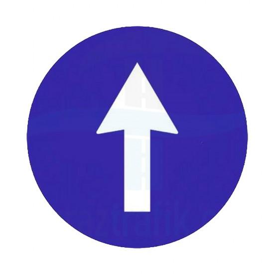 Yukarı Yön İşareti Trafik Levhası