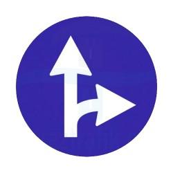 Sağa Yol Ayrımı Yön İşareti Trafik Levhası | PT-108-F