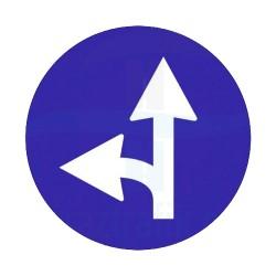 Sola Yol Ayrımı Yön İşareti Trafik Levhası | PT-108-G