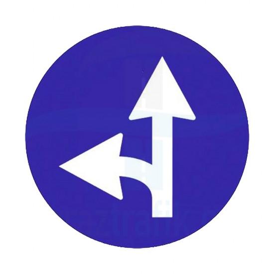 Sola Yol Ayrımı Yön İşareti Trafik Levhası