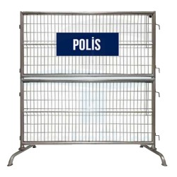 Demir Çift Katlı Polis Bariyeri | PT-58
